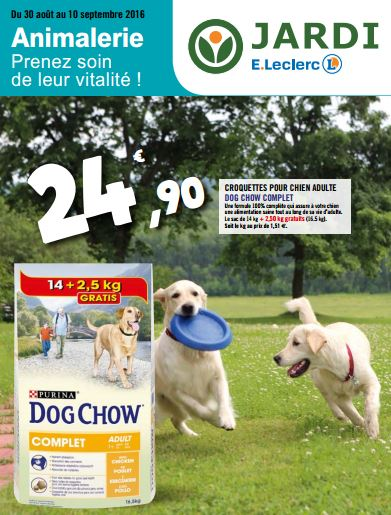 couv catalogue animalerie leclerc
