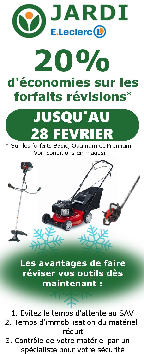 Opération Entretien Matériel De Jardinage Jardi Leclerc
