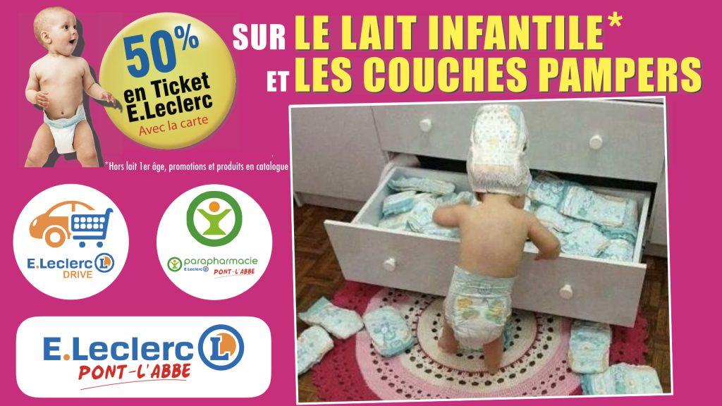 promo couches bébé pas chère ait infantile pont l'abbé leclerc