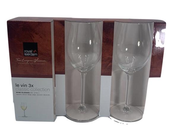 3 verres à vin 26cl Royal Leerdam