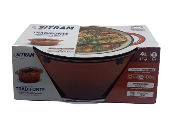 Cocotte 4L rouge Sitram