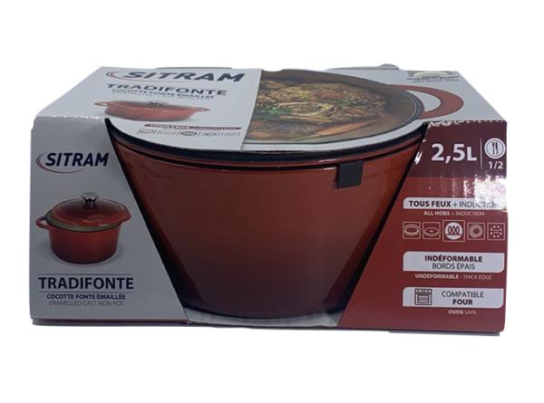 Cocotte 2,5L rouge Sitram
